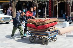 Moving a Takht (Chris Brady 737) Tags: iran hamedan takht bed sofa carpet