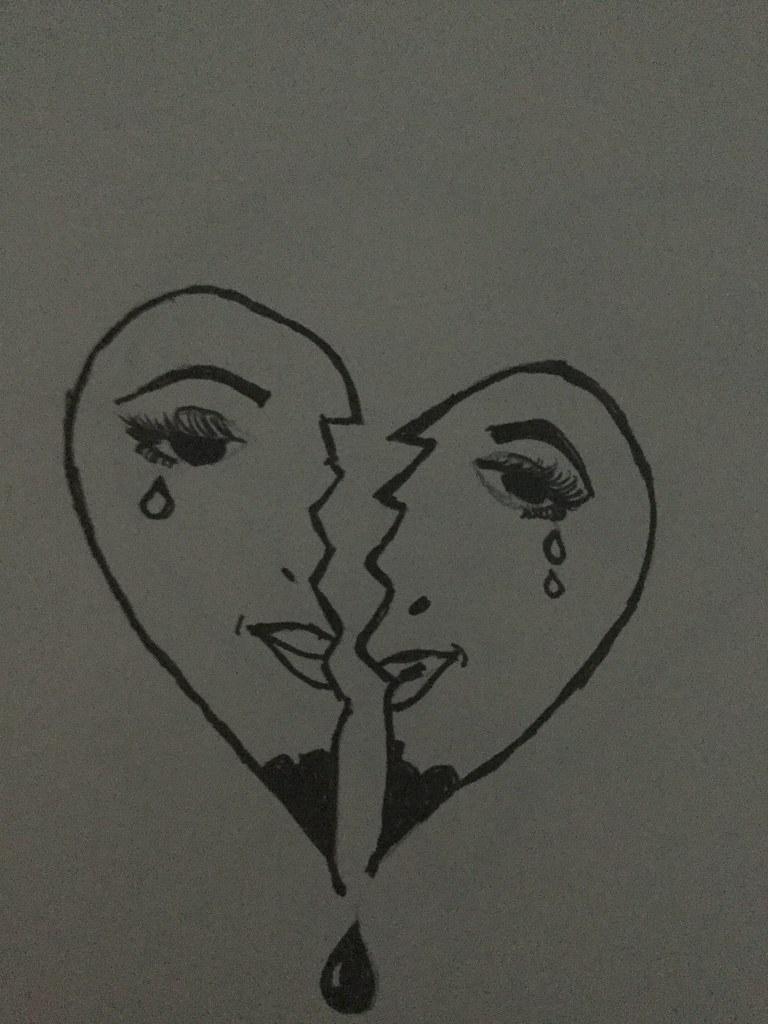 Broken Heart Brokenhearts Brokerheart Drawing Drawings Emo Emotional