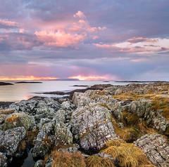 Morar Rocks (Pixelda) Tags: pixelda morar scotland cuillins skye sunset