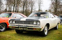 1969 Plymouth Roadrunner. (dementedb43) Tags: 1969 plymouth roadrunner wheels day aldershot rushmoor arena 2018 v8 hemi mopar muscle american america usa us auto car