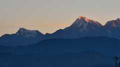 Sunrise on Mt Trishul. (draskd) Tags: sunrise mttrishul trishulpeak himalayansunrise himalayas mountain landscape nandaghunti kumaontravel
