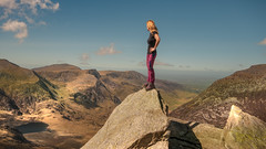 Mountain high.. (Einir Wyn Leigh) Tags: landscape wales climb mountains sunny tryfan view scenery home
