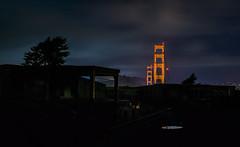 dove loop (pbo31) Tags: sanfrancisco california nikon d810 color april spring 2018 boury pbo31 goldengatebridge 101 bridge presidio over night dark black sky silhouette puddle reflection