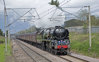 MN Class No. 35018 British India Line passing through Winsford running over 2 hours late due to a signal failure on the GBX1 rail tour day 6. Click on image for a closer look.