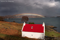 Red Roof Rainbow (.Brian Kerr Photography.) Tags: cottage redroof lochshieldaig torridon applecross westerross scotland visitscotland visitbritain highlands highlandsislands scottishlandscapes scottish scotspirit scottishhighlands scottishlandscape vanguarduk formatthitech firecrest sonyuk photography landscape images rainbow mountains mountain sky clouds altasky45d a7rii briankerrphotography briankerrphoto nature naturallandscape natural outdoor outdoorphotography opoty weather spring bay grass water