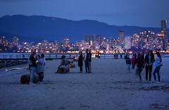 Everyone Was There (Clayton Perry Photoworks) Tags: vancouver bc canada spring explorebc explorecanada skyline beach people night lights