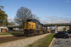 CSX Q513 at Cartersville (travisnewman100) Tags: csx spirit west springfield 3099 train railroad freight manifest q513 atlanta division cartersville georgia wa subdivision ge es44ac