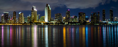 San Diego Skyline Panorama (Evver G Photography) Tags: yellow san diego skyline cityscape city coronado telephoto long exposure