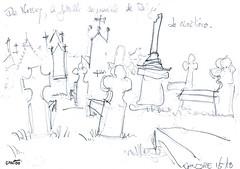 Voyage à Montigné, en Mellois, en Poitou (Croctoo) Tags: croctoo croctoofr croquis crayon campagne poitou poitoucharentes mellois montigné