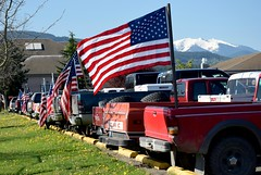 Flags3 (Donna's View) Tags: nikon d3300 oldglory flags trucks usflag patriotism godblessamerica