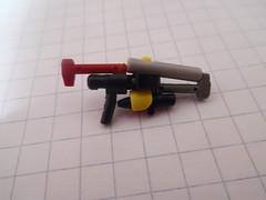 Lego Sci-Fi Laser Rifle (Variation 1) (thebrickccentric) Tags: lego gun sci fi scifi science fiction star wars blaster laser rifle shoot shot 1 one storm trooper barrel npu piece tiny mini accessory small clone space fight war soldier hand minifig minifigure