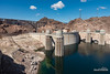 Hoover Dam and Lake Mead (kevin-palmer) Tags: april spring nevada arizona hooverdam mikeocallaghanpattillmanmemorialbridge lakemead water sunny blue sky clouds morning tamron2470mmf28 powerlines wires concrete bouldercity reflection