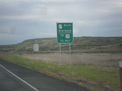 WA-260 North Approaching WA-261 South (sagebrushgis) Tags: sign wa261 wa260 franklincounty us12 washington intersection biggreensign
