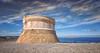 (163/18) Vigilando el puerto (Pablo Arias) Tags: pabloarias photoshop photomatix capturenxd españa cielo nubes arquitectura mar agua mediterráneo torrededefensa castillo fornells menorca