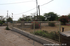 A fence around the compound - Champaner-Pavagadh Archaeological Park Champaner Gujarat India (WanderingPJB) Tags: india gujarat champaner champanerpavagadh archaeologicalpark unesco worldheritagesite wire fence