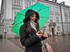 Krakow -3271029 (Neil.Simmons) Tags: poland krakow streetphotography people handbag coat street day woman women lady walk candid green umbrella rain raining phone