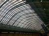 St. Pancras roof (n.a.) Tags: st saint pancras international platform roof glass london train station clock