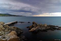 Mauvais temps sur le cap Béar (jpto_55) Tags: paysage mer nuages capbéar roussillon pyrénéesorientales france xe1 fuji fujifilm fujixf1855mmf284r rocher cap méditerranée banyuls