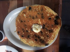 BLUEBERRY PANCAKES FIRST AWAKENINGS PACIFIC GROVE CA. (ussiwojima) Tags: blueberrypancakes food restaurant breakfast lunch dinner firstawakenings pacificgrove california
