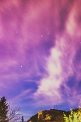 Springtime stars glaring on my balcony (CsiziPhoto) Tags: nikon d610 stars starrynight purple nikkoraf24mmf28 nikkor 24mm