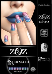 {ZOZ}  Mermaid pix L (Zoz icon) Tags: zoz zozicon {zoz} applier mesh meshnails mani manicure pedi pedicure frenchtip french beach ocean starfish slocca original slink maitreya omega vista vistabento mermaid