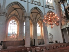 Bays and chandelier, nave of Grote Kerk, Dordrecht, Netherlands (Paul McClure DC) Tags: dordrecht dordt netherlands feb2018 southholland nederland thenetherlands architecture historic church