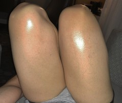 IMG_0739 (guythigh) Tags: legs leg oil thighs thigh smooth tease shorts sexy shiny shapely knees