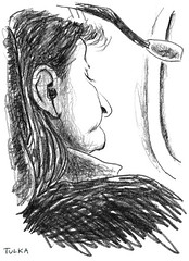 Airports and Planes 23 (Rick Tulka) Tags: airports planes travel caricature pencil drawing sketchbook paris newyork