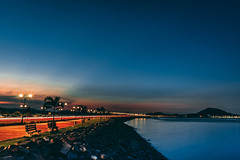 Azules (moises_delgado) Tags: ifttt 500px sky causeway nd filter panama city night dusk sunset pier twilight dawn dramatic bay ndfilter panamacity