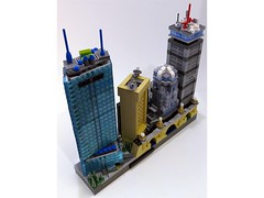 Skyline - Boston, Angle 3 (BrickBlvd) Tags: lego micro skyline architecture boston prudential hancock tower huntington christian science longfellow bridge