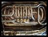 Euphonium ... 'err, that's 'tuba' to you mush. (RichardK2018) Tags: zuiko75mmf18 shiny metal valves euphonium tuba musicalinstrument alicante explanade olympusem1mk2