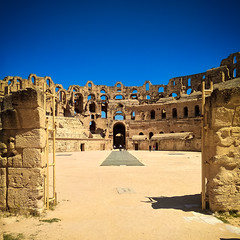 The colosseum of El Jem