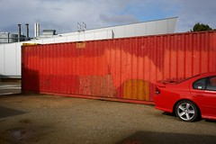 Red (g.finzi) Tags: red shippingcontainer car deakinuniversity geelong sonya7rii sonyalpha sonyfe35mm28 35mm