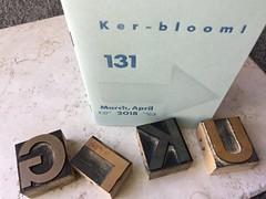 Wood type with zine (artnoose) Tags: portland cover arrow fiction science blue type wood leguin ursula zine letterpress kerbloom