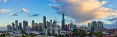 Melbourne sunrise pano (NettyA) Tags: australia melbourne sonya7r southbank victoria buildings city clouds panorama skyline sunrise