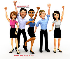 3D Successful business group (pastortrp) Tags: 3d successful business group armsup isolated white background team teamwork success corporate executives entrepreneurs professionals workers colleagues happy cheerful happiness women men females males girls guys people person human characters cartoon render rendered threedimensional