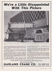 Vintage Garland Crane Ad Feauring California Neon Products Truck, circa 1949 (hmdavid) Tags: signsofthetimes magazine roadside advertising signs sign vintage february 1949 1940s garland crane ad advertisement truck californianeonproducts cnp sandiego california theater theatre marquee