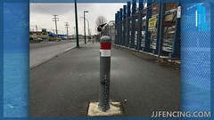 JJFencing.com_Security_post_bollard_fence_13 (JJFencing) Tags: security post bollard chain link installation repair fence vancouver bc canada surrey delta burnaby new westminster residential commercial fences jj fencing inc jjfencing jjfencingcom