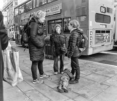 Best Behaviour  (in Explore) (Wormsmeat) Tags: child boredom bored illbehaved badlybahaved badbehaviour street streetphotography londonstreetphotography london pavement sidewalk bus chatting panasonic dmcgm5 1232f35 176