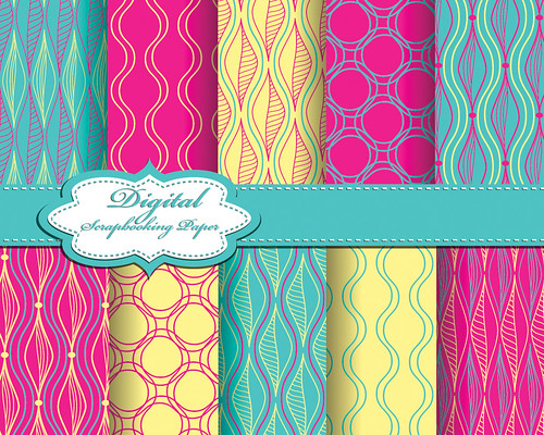 "set of vector abstract pattern paper for scrapbook • <a style=""font-size:0.8em;"" href=""http://www.flickr.com/photos/151084956@N05/41644237642/"" target=""_blank"">View on Flickr</a>"