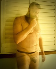 The Ghost (CubOz) Tags: underwear jockstrap lighting filter beard