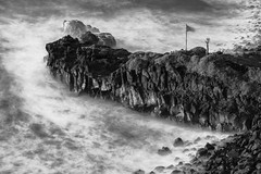 Bollullo (freakyman) Tags: laorotava canarias españa es nikon d810 70200mm nisi nd1000 playa beach bw bn sea mar