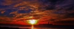 Incoming II (beachpeepsrus) Tags: sunrise shore sky sihlouette shorefront sun california clouds water westcoast longbeachcalifornia longbeachgranprix alamitosbay flight whiteisland