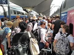 LA FOULE SUR LE QUAI (marsupilami92) Tags: frankreich france îledefrance paris 75 12emearrondissement gare sncf tgv quai foule voyageur garedelyon