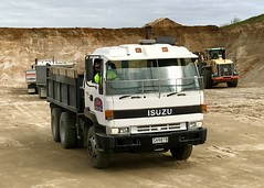 An older Isuzu tip truck (SemmyTrailer) Tags: isuzu tip tipper truck lorry weddings sand quarry