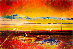 A walk on Morecambe beach (Bradverts) Tags: brach sand colour dramatic graphic2people water
