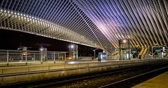 gare de Liège (BE) 5033 (YᗩSᗰIᘉᗴ HᗴᘉS +15 000 000 thx) Tags: train gare communication transport night nuit hdr liège gareguillemins belgique