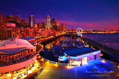Sunset Afterglow Over The Seattle Waterfront With The Great Wheel and Mt Rainier From Pier 66 in Downtown Seattle Washington (@randalljhodges) Tags: sunset sunsetafterglow night sunsetglow seattle seattlewaterfront seattlewheel seattlegreatwheel seattleferriswheel ferriswheel mtrainier downtown downtownseattle northwest pacificnorthwest pugetsoumd city travel scenic destination location washington usa unitedstates buildings skyscrappers