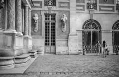en passant par Versailles (Jack_from_Paris) Tags: l1011815bw leica m type 240 10770 leicaelmaritm28mmf28asph 11606 dng mode lightroom capture nx2 rangefinder télémétrique bw noiretblanc noir et blanc monochrom wide angle street château de versailles visite portrait foule photographes personnes entrée