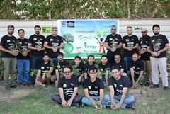 Wajid Junejo - Plant Manager Engro Fertilizers Blending Plant - Heading tree plantation drive at Port Qasim Karachi Pakistan - March 2018